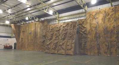 One side of the Climbing Wall